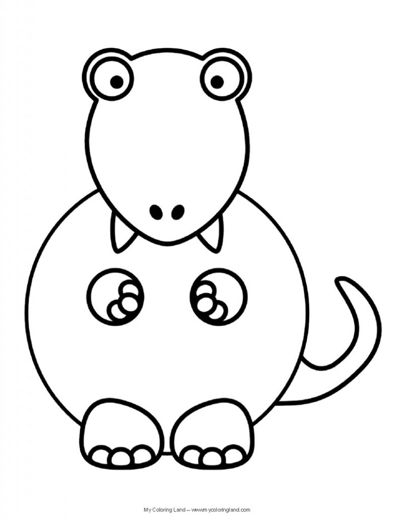 Free Scary Dinosaur Coloring Pages