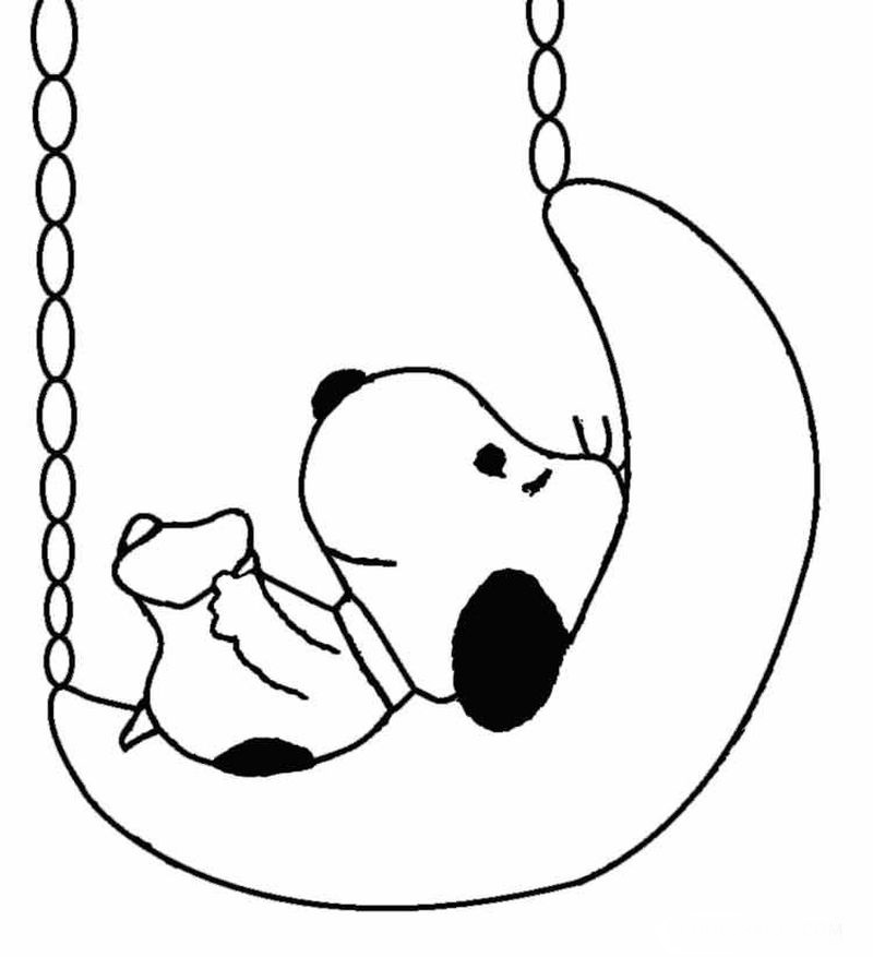 Free Snoopy Christmas Coloring Pages