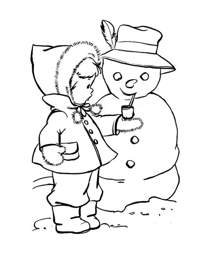Free Snowman Coloring Pages For Preschool