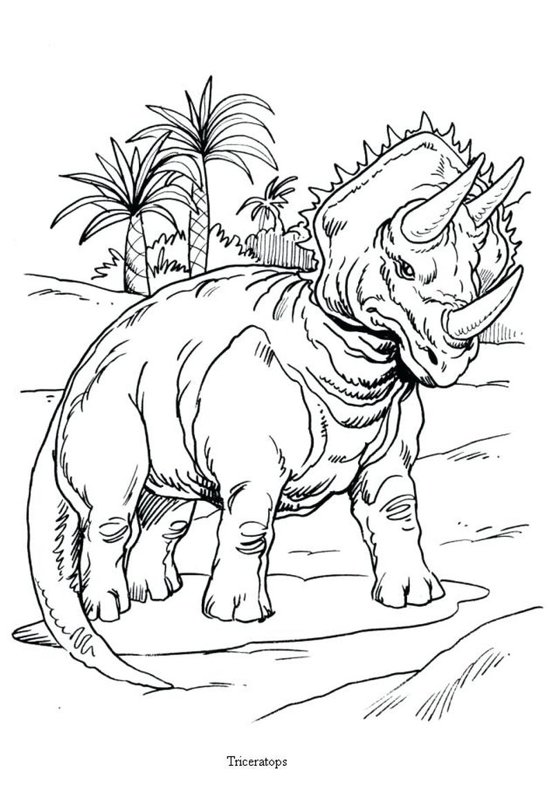Free T Rex Dinosaur Coloring Pages