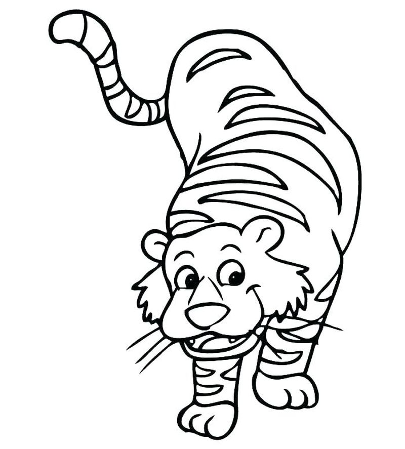 Free Tiger Cub Coloring Pages
