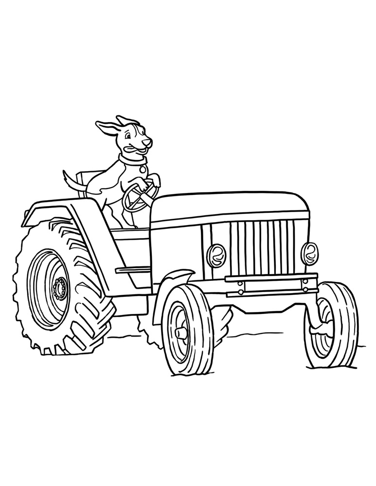Free Tractor Coloring Pages To Print