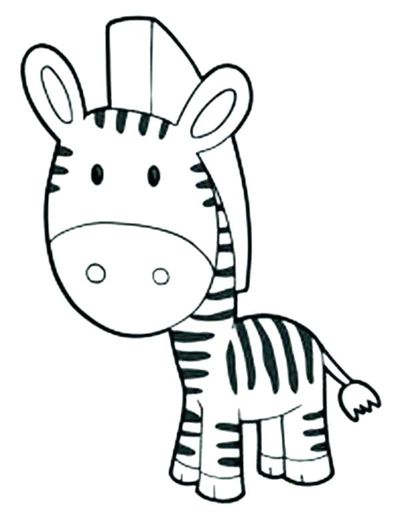 Free Zebra Coloring Pages To Print