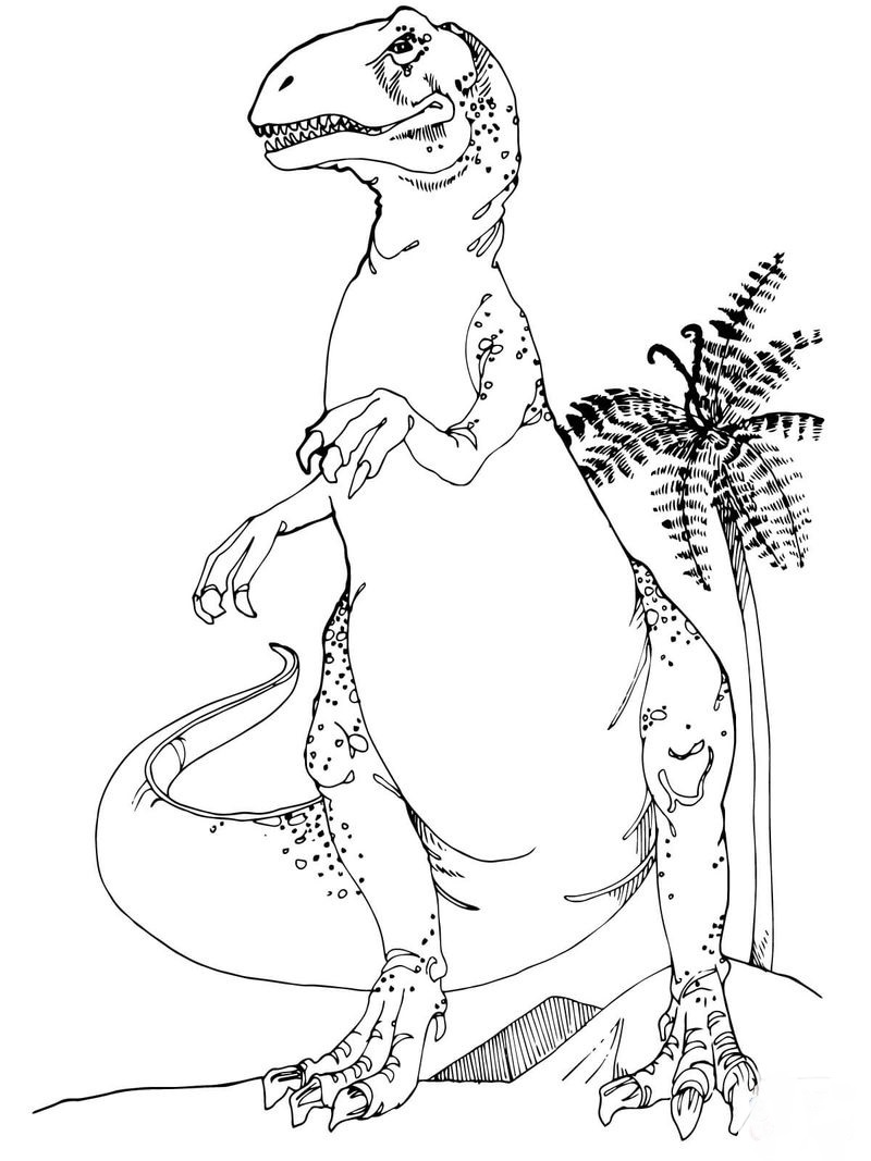 Frilled Dinosaur Coloring Pages
