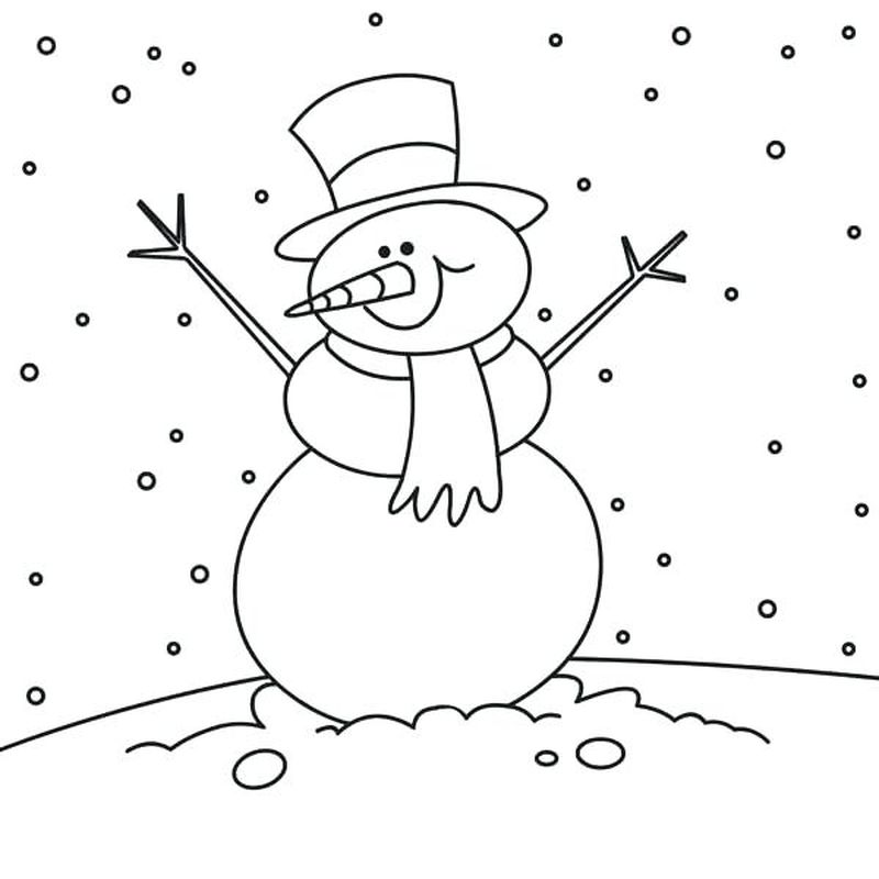 Frosty The Snowman Coloring Book Pages