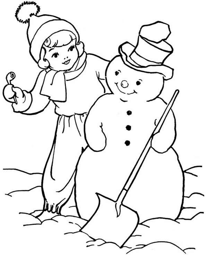 Frosty The Snowman Coloring Pages To Print