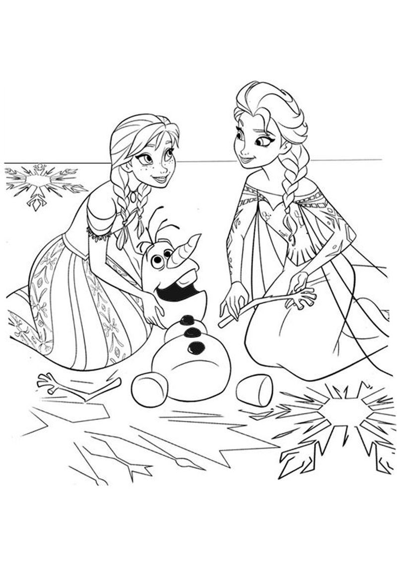 Frozen Coloring Pages For Preschoolers