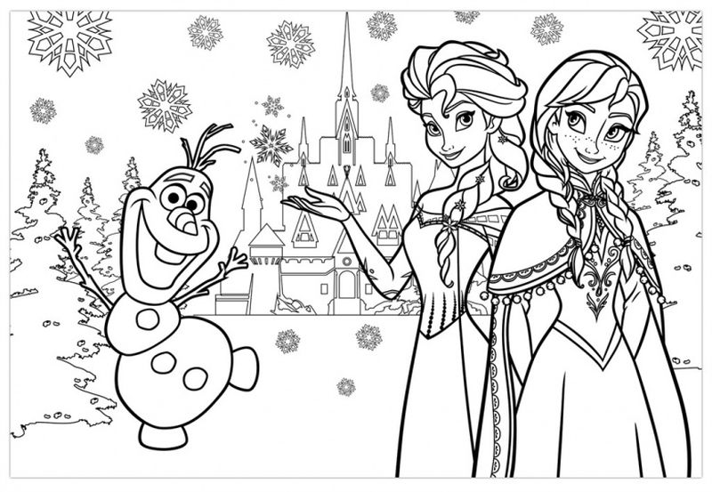 Frozen Coloring Pages Free Online