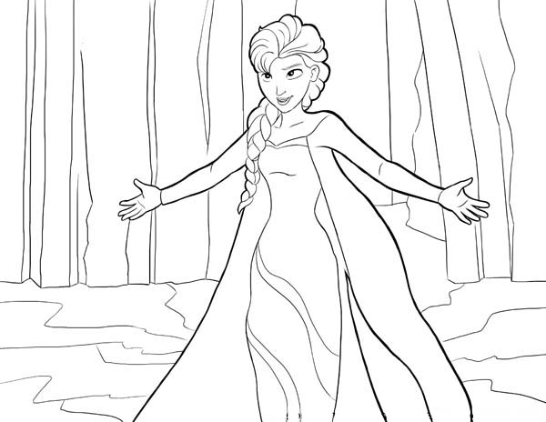 Frozen Colouring Pages Elsa And Anna