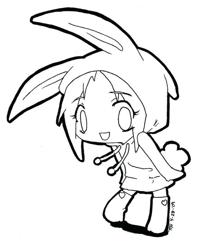 Full Boddy Anime Girl Coloring Pages