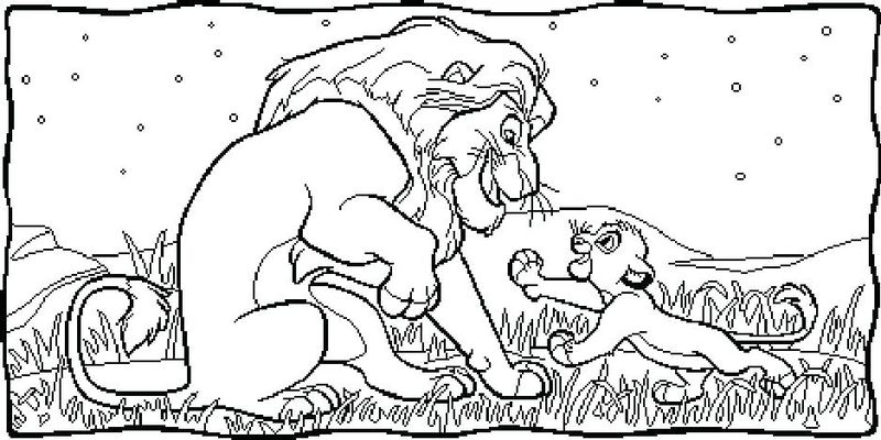 Full Page Lion King Coloring Pages