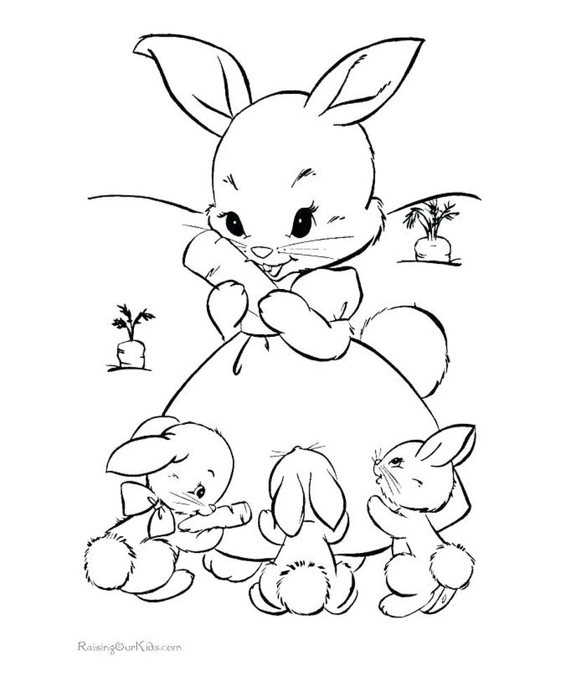 Full Size Easter Bunny Coloring Pages
