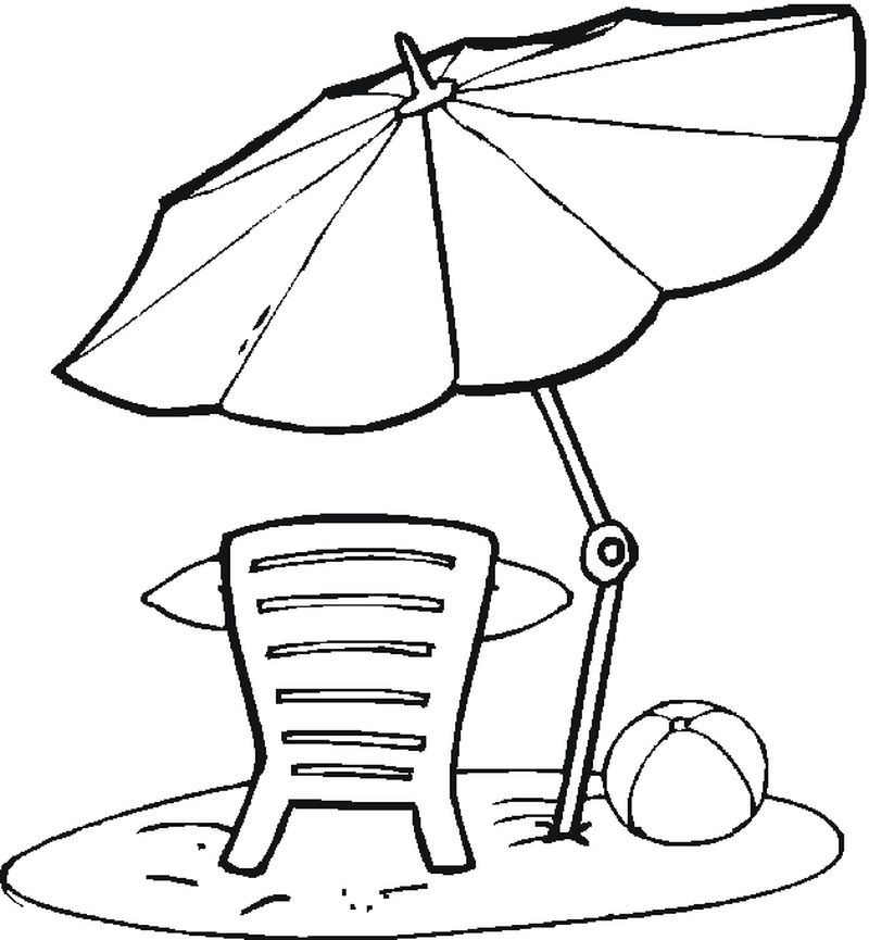Fun At The Beach Coloring Pages