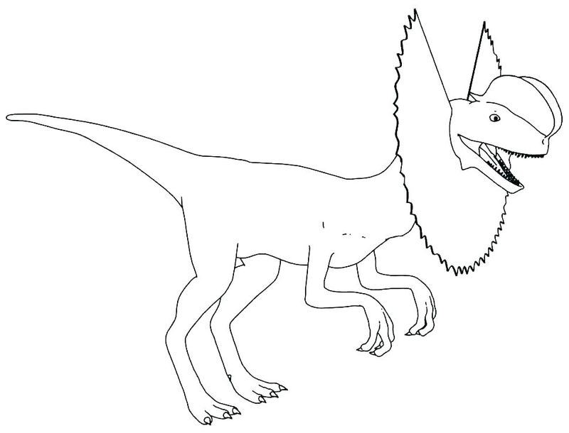 Funny Dinosaur Coloring Pages