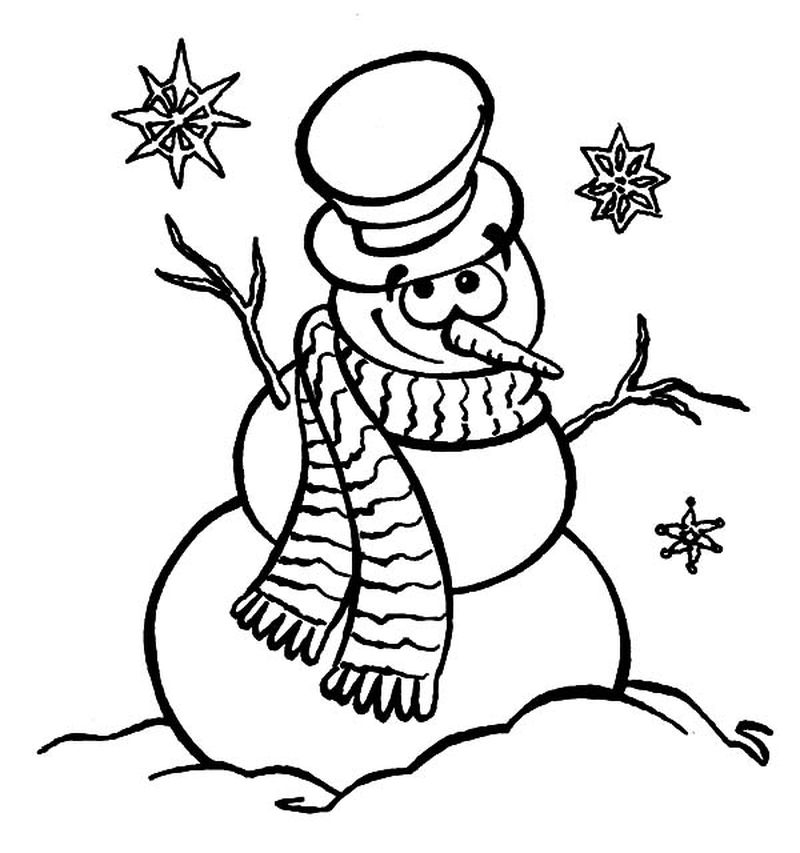 Funny Snowman Coloring Pages
