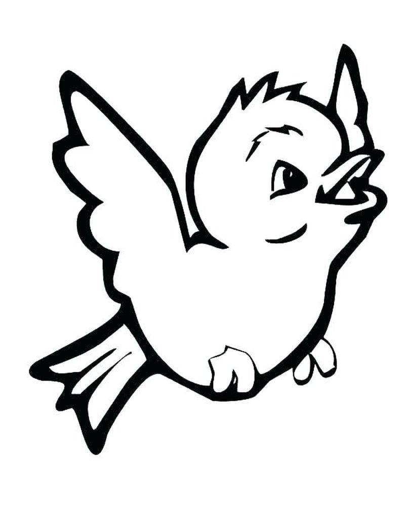 Gangsta Tweety Bird Coloring Pages
