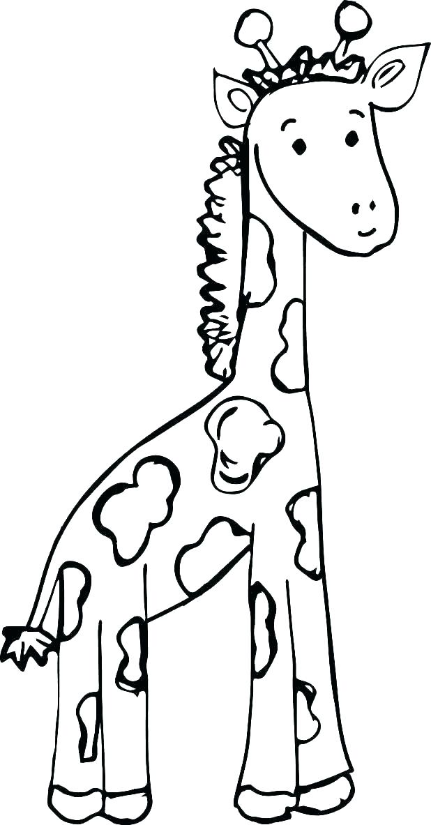 Giraffe Coloring Pages For Preschool
