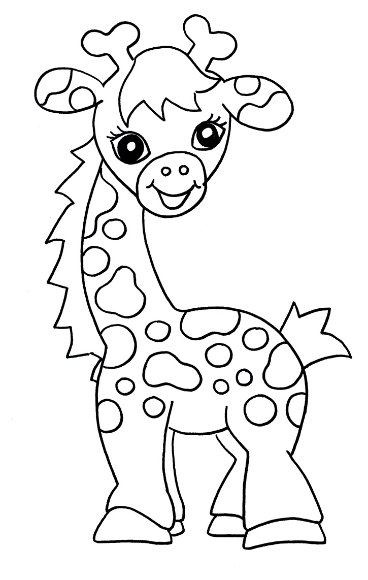 Giraffe Coloring Pages Pdf