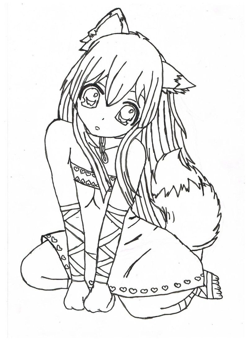 Girl Anime Coloring Pages