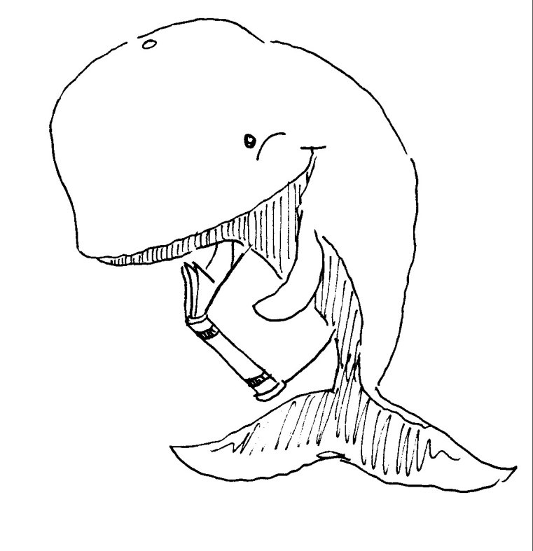 Glitter Whale Coloring Pages
