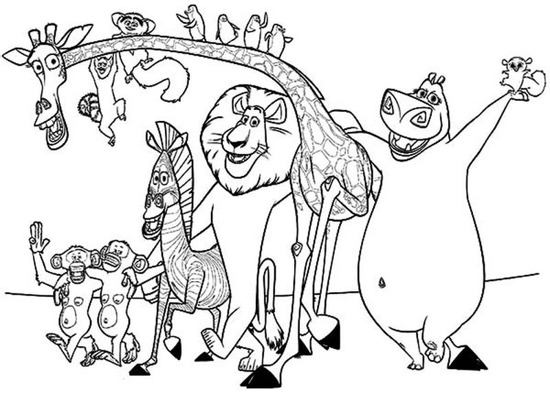 Gloria Madagascar Coloring Pages