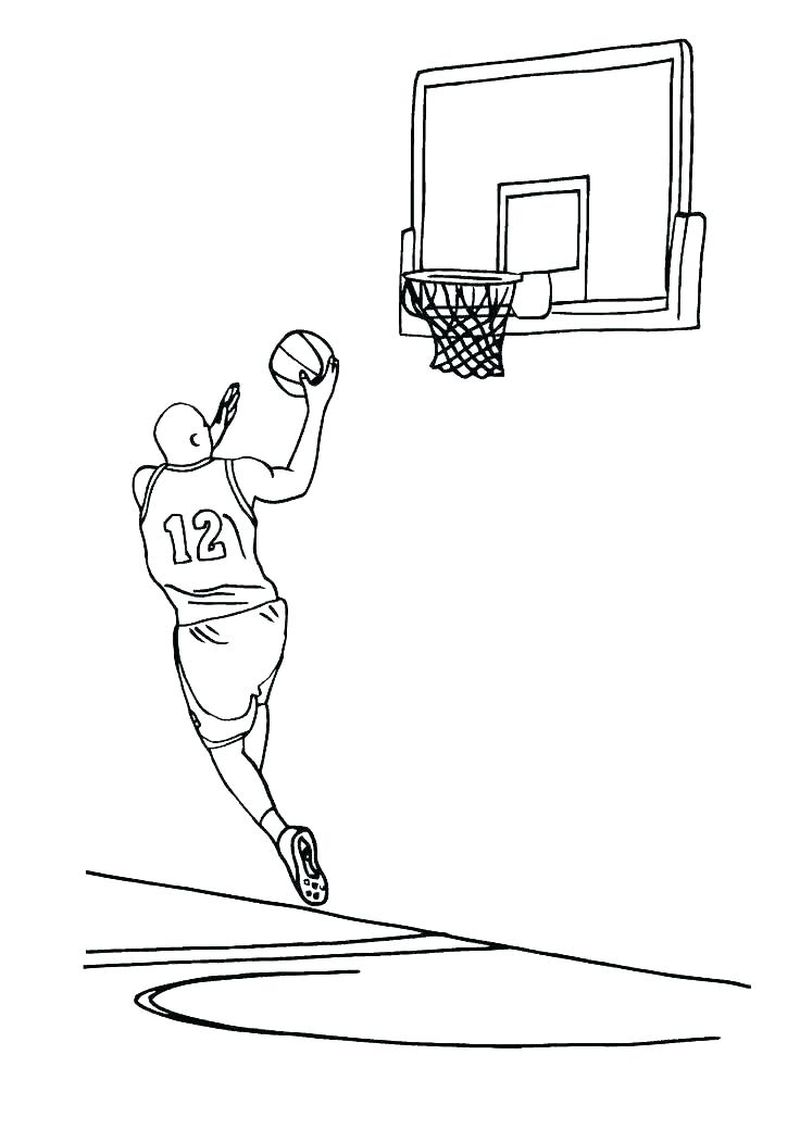 Gonzaga Basketball Coloring Pages