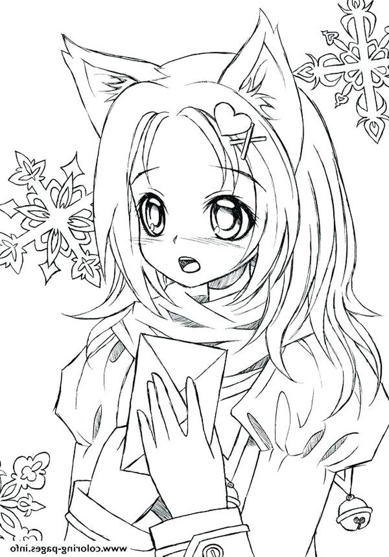 Gothic Anime Emo Girl Coloring Pages