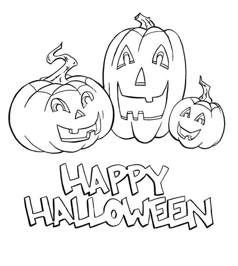 Halloween Coloring Pages By Number