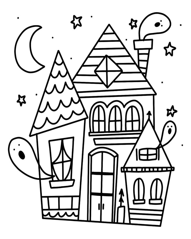 Halloween Coloring Sheets Adults