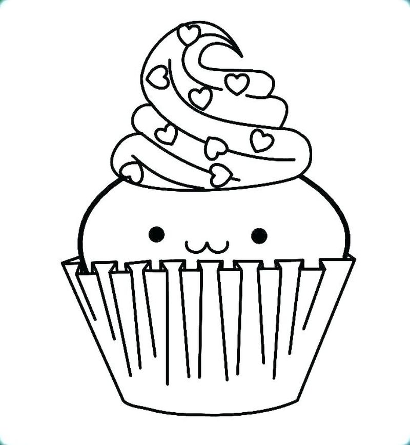 Halloween Cupcake Coloring Pages For Adults