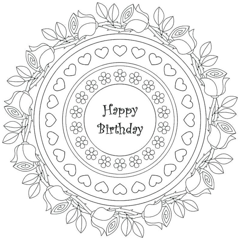 Happy Birthday Banners Coloring Page