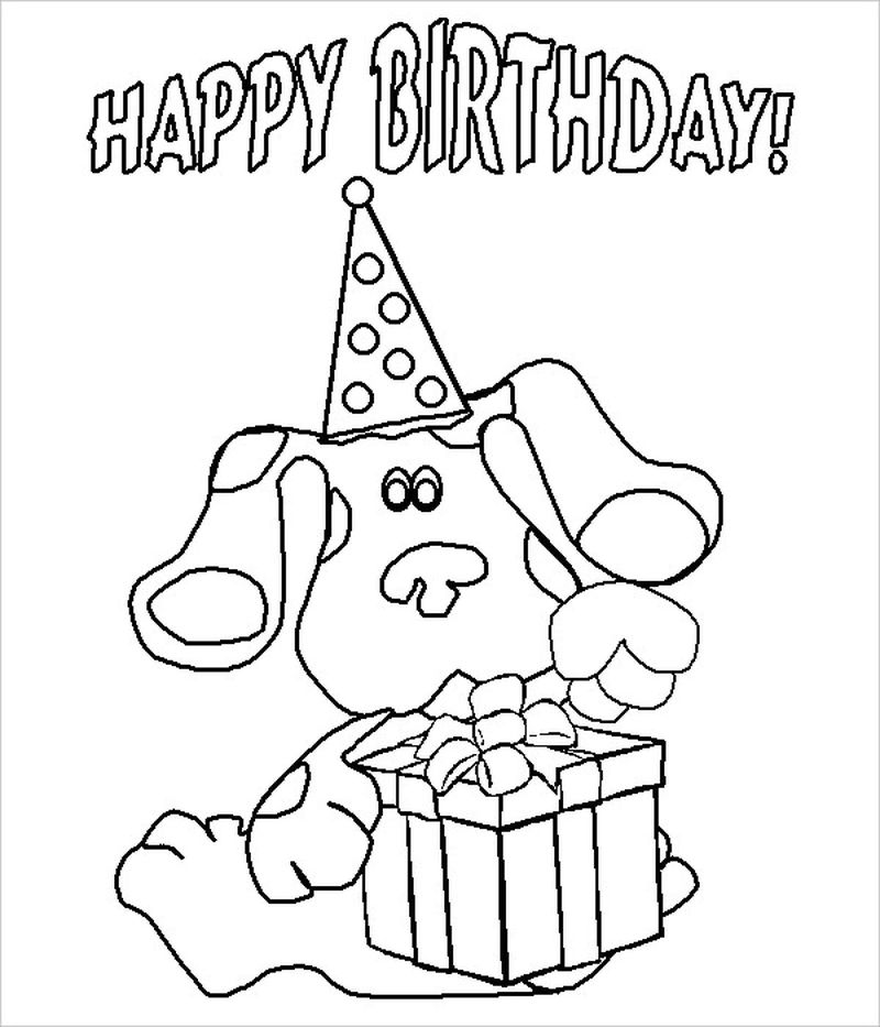 Happy Birthday Coloring Page Free