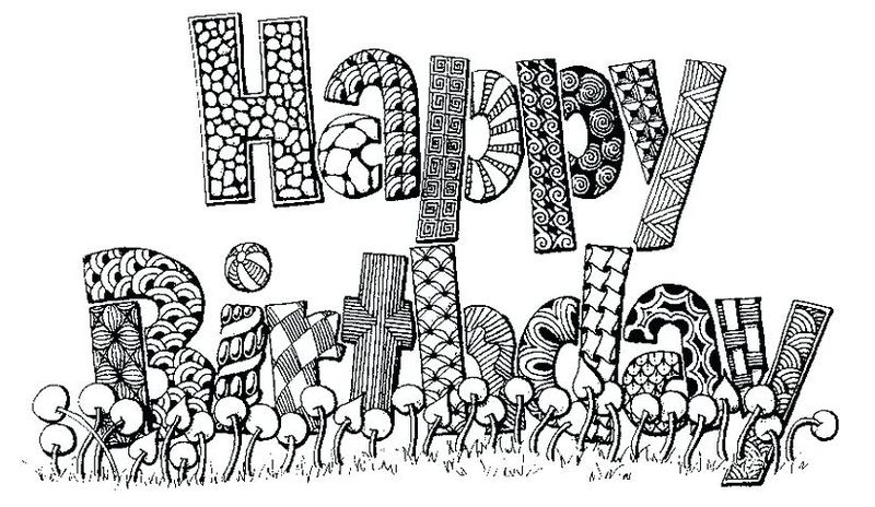Happy Birthday Coloring Pages Grandma