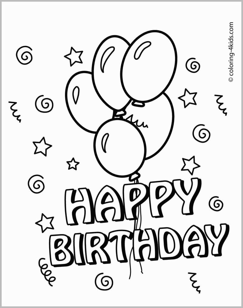 Happy Birthday Godmother Coloring Page