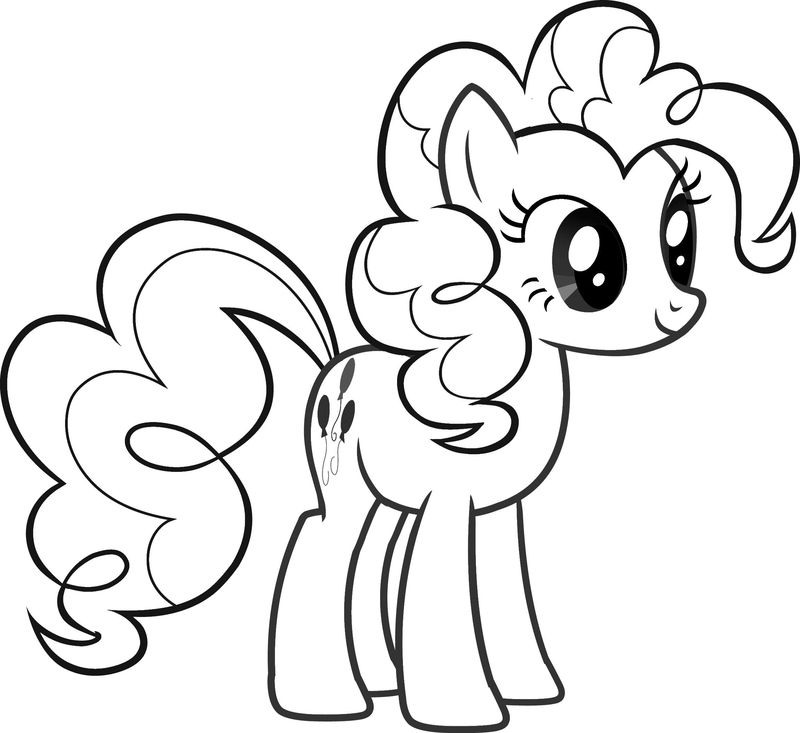 Happy Birthday My Little Pony Coloring Pages