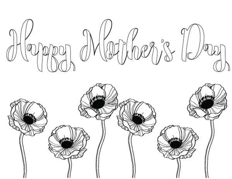 Happy Mothers Day Coloring Pages For Kindergarten