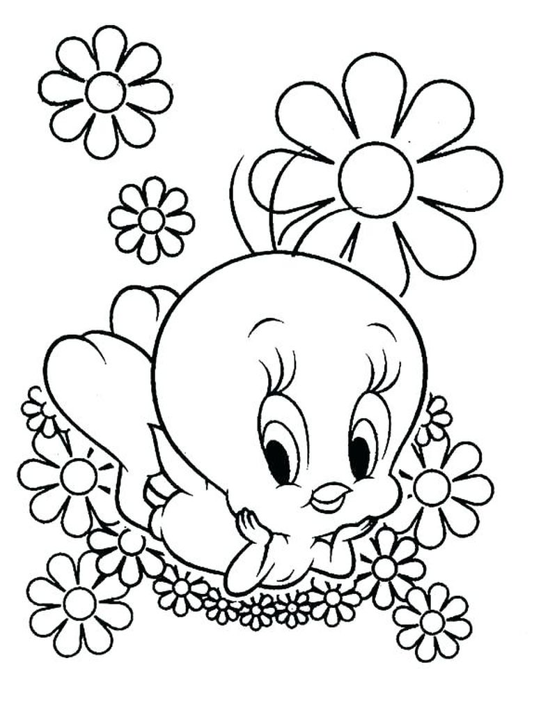 Happy Tweety Bird Coloring Pages