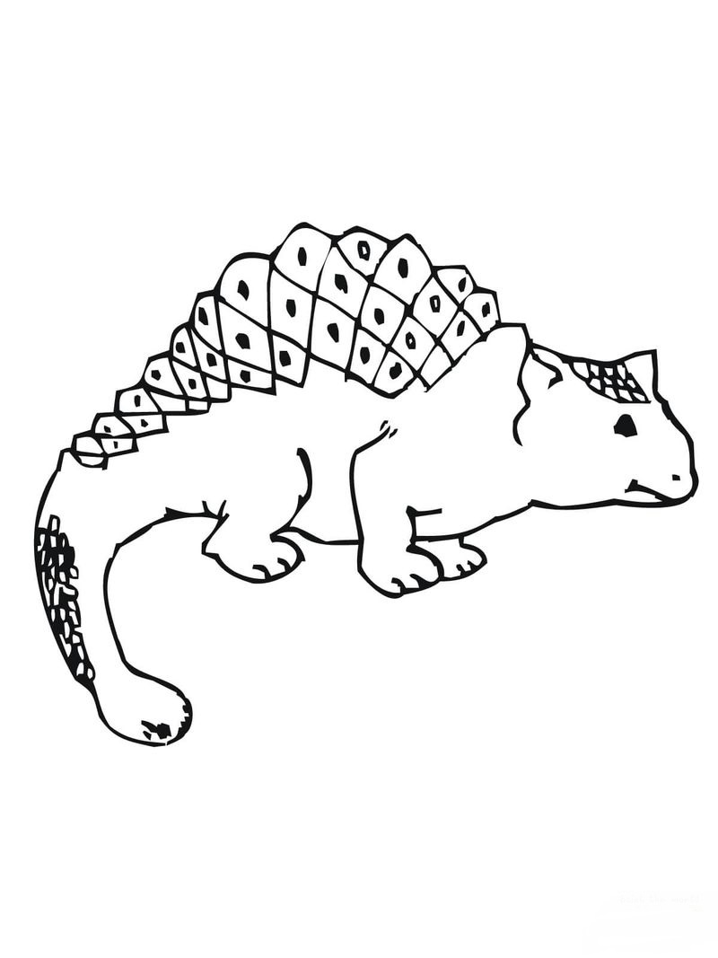 Hard Dinosaur Coloring Pages