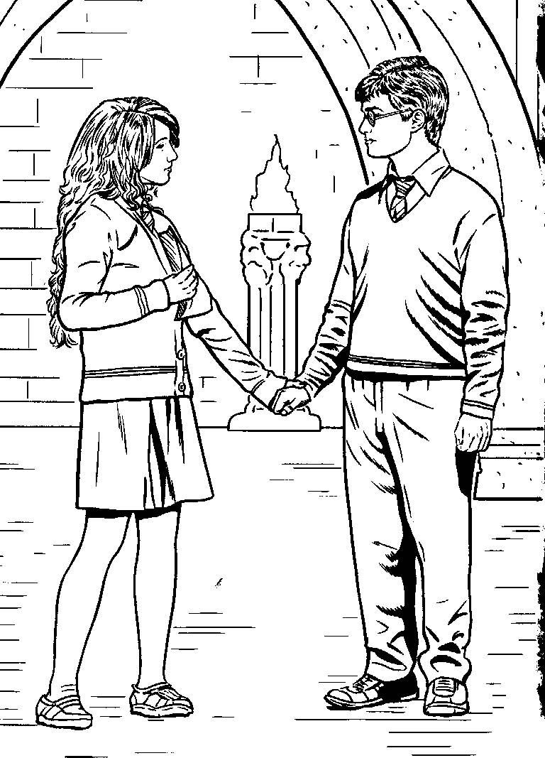 Harry Potter Coloring Pages Ginny Weasley