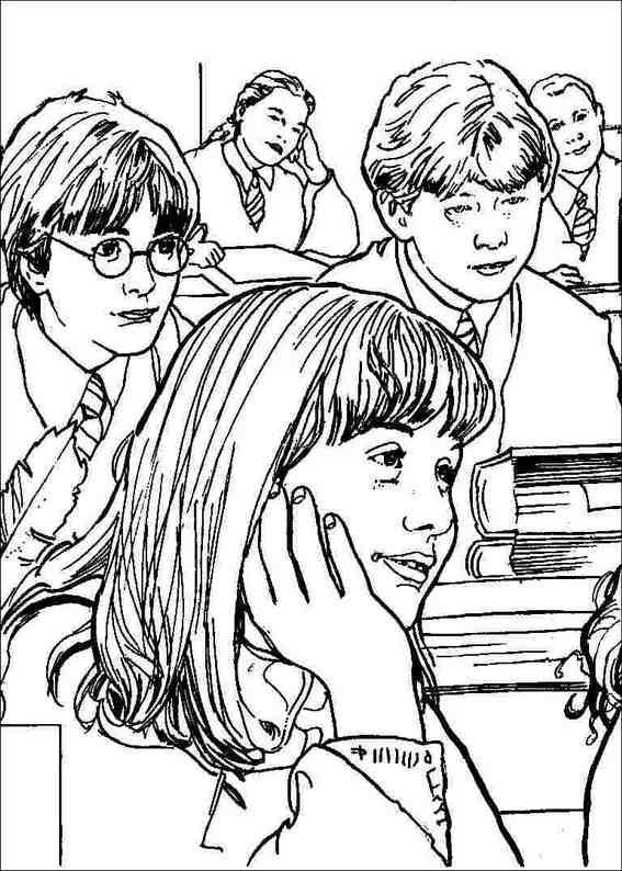 Harry Potter Coloring Pages Luna Lovegood
