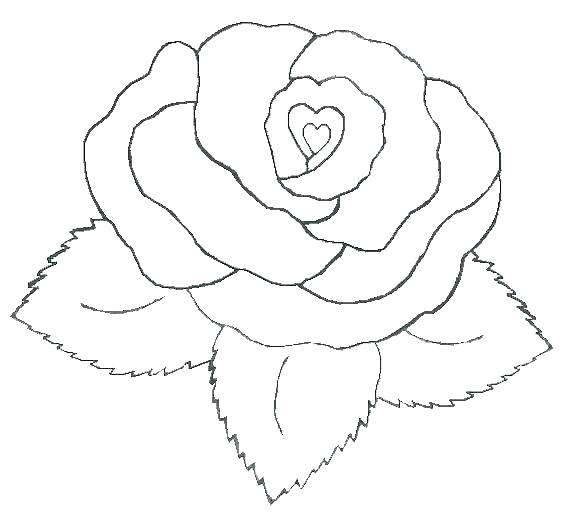 Heart Coloring Pages Colored