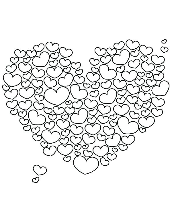 Heart Coloring Pages For Adults Printable