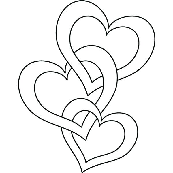Heart Coloring Pages For Preschoolers
