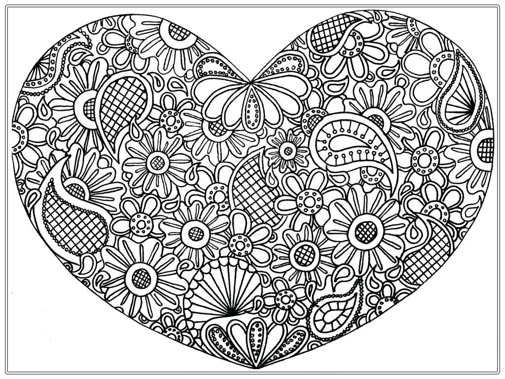 Heart Coloring Pages Pdf