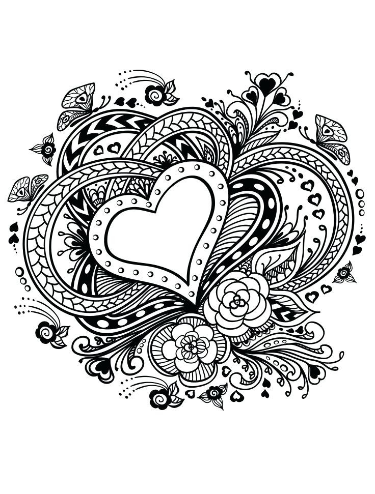 Heart Coloring Pages Printable