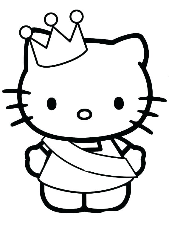 Hello Kitty Coloring Pages Summer