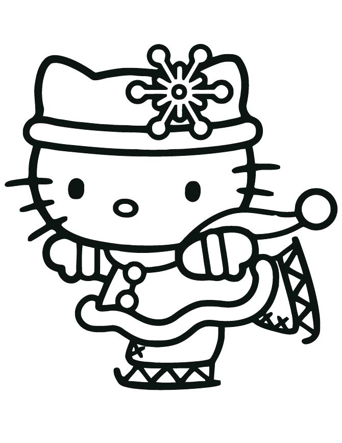 Hello Kitty Coloring Pages To Print Out For Free