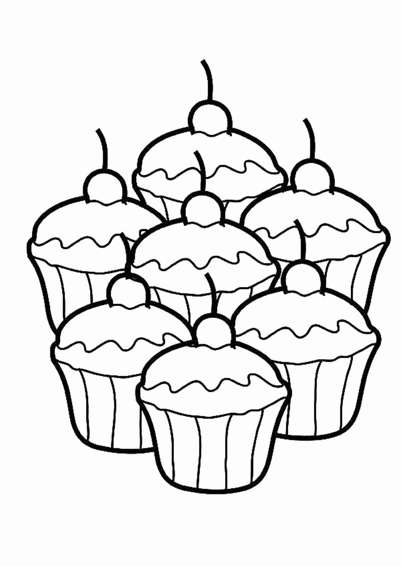 Hello Kitty Cupcake Coloring Pages Big