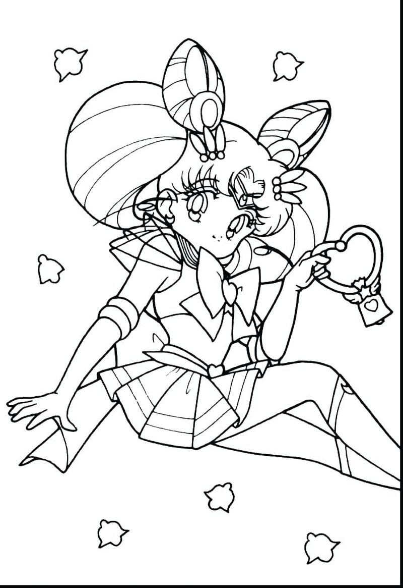 Hooded Girl Anime Coloring Pages