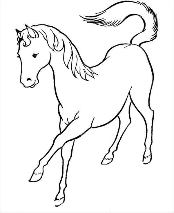 Horse Coloring Pages For Toddlers